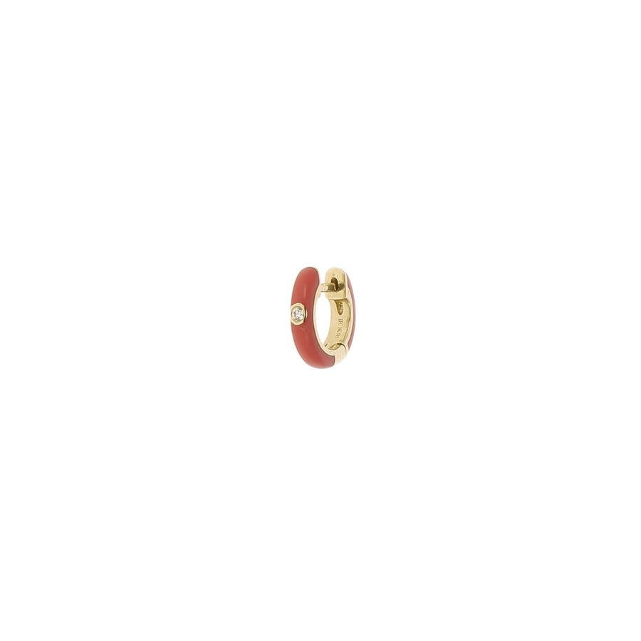 Boucle d'oreille diamond red