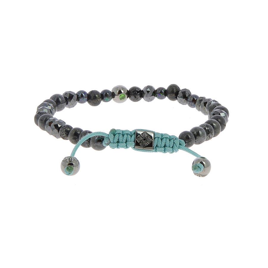 Bracelet tsavorite & diamants noirs
