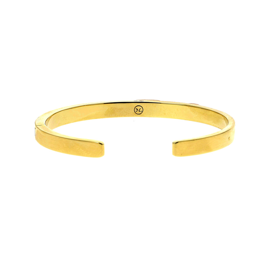 Bracelet or jaune satiné