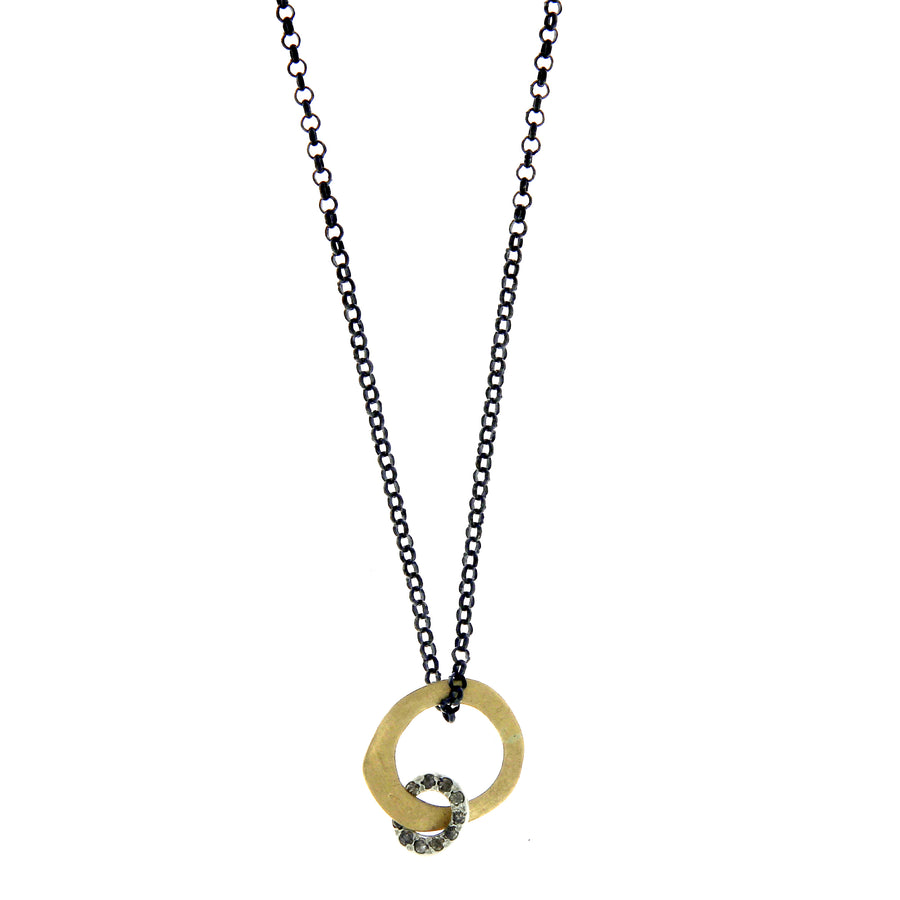 Collier Cognac Diamonds Or Jaune et Argent