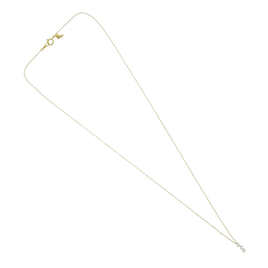 Collier Danae 3 Diamants Vertical Or Jaune