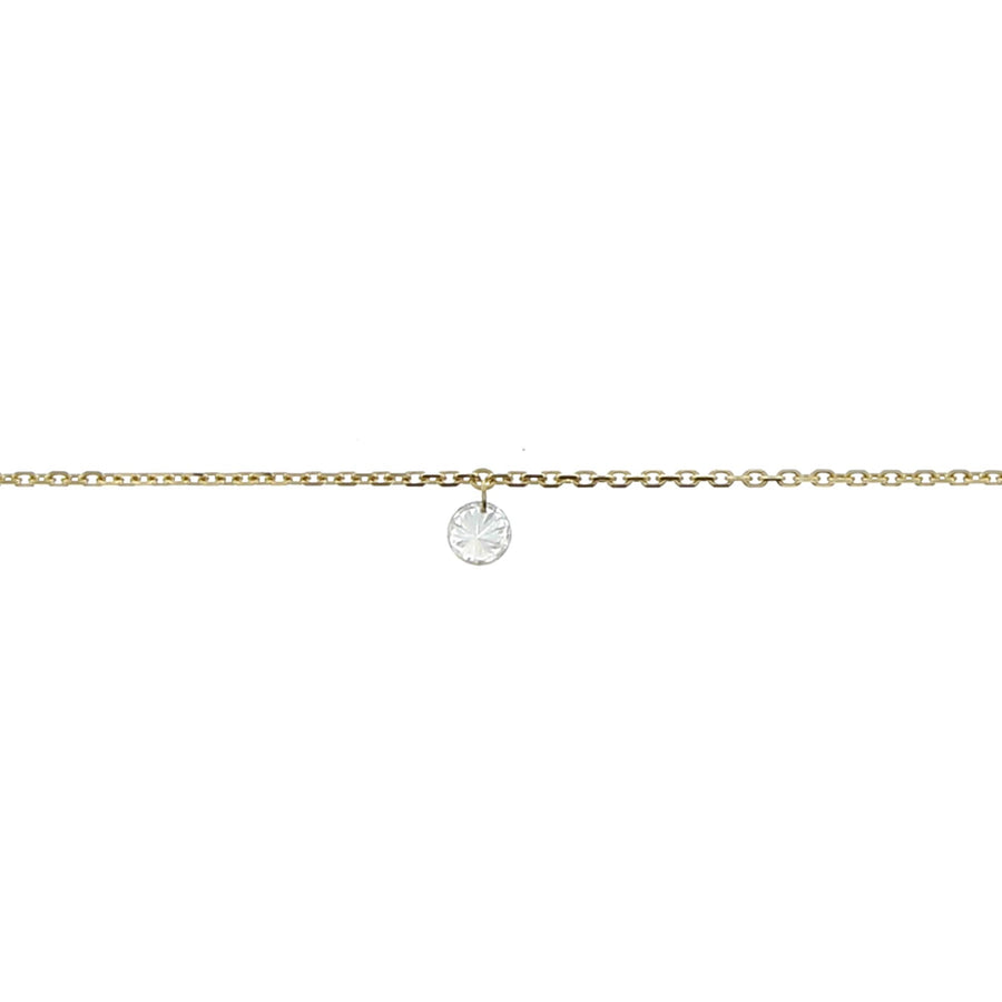 Collier diamant 3.5mm or jaune
