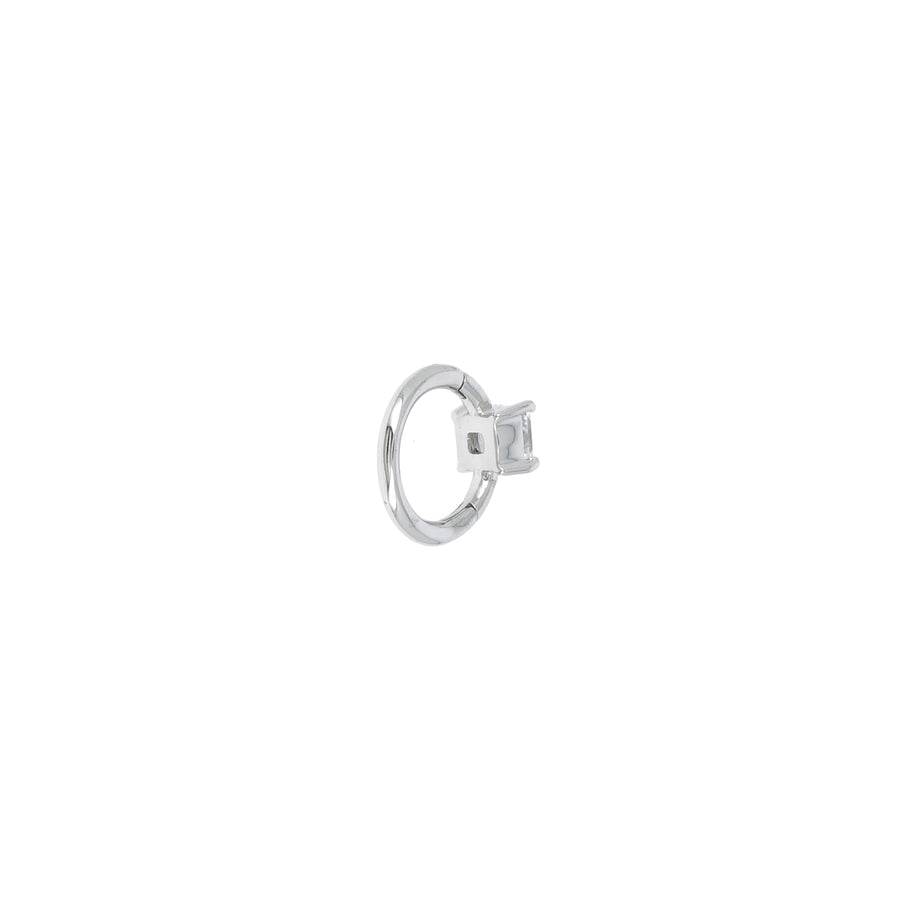 Créole 6.5mm or blanc princesse 3x3mm