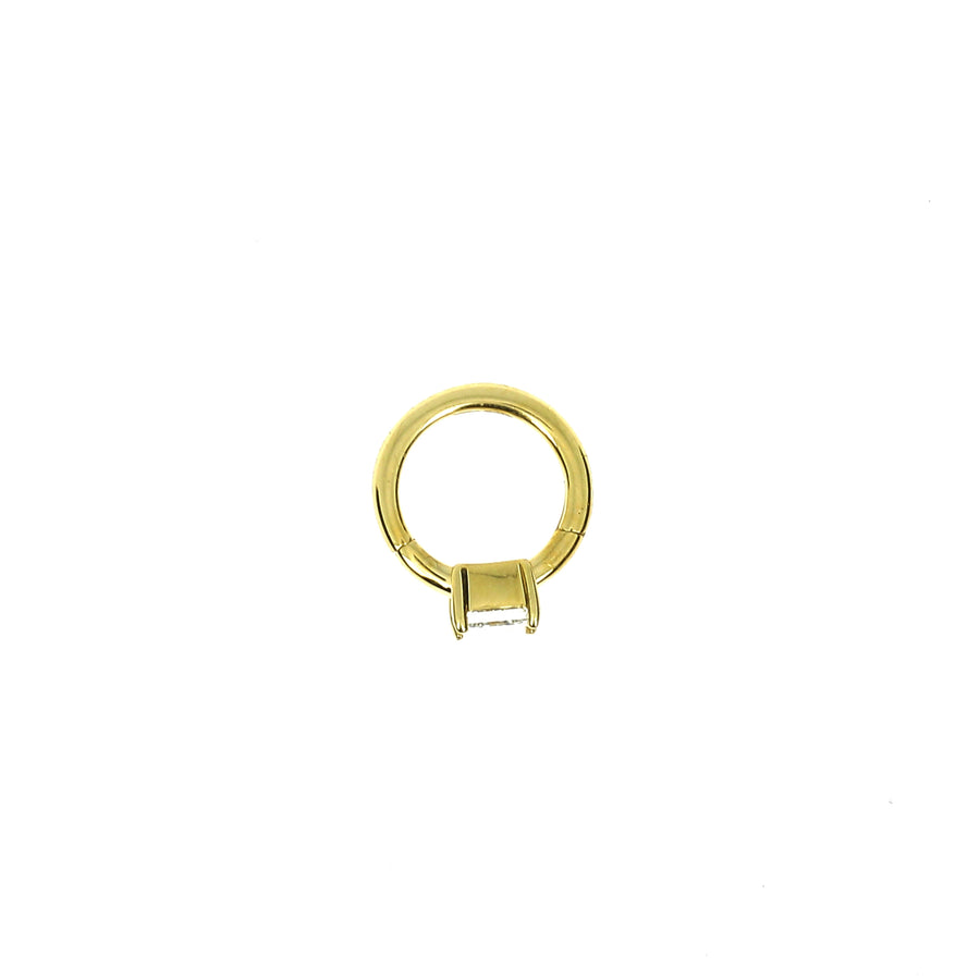 Créole 6.5mm or jaune princesse 3x3mm