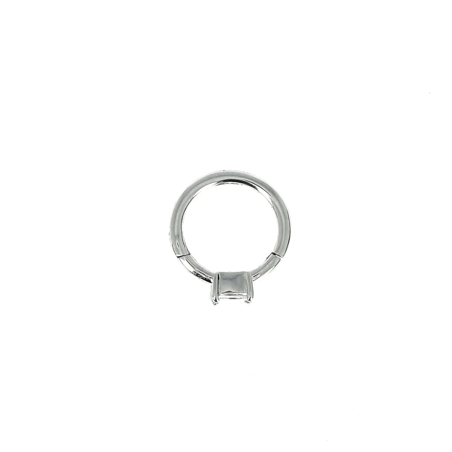 Créole 8mm or blanc princesse 3x3mm