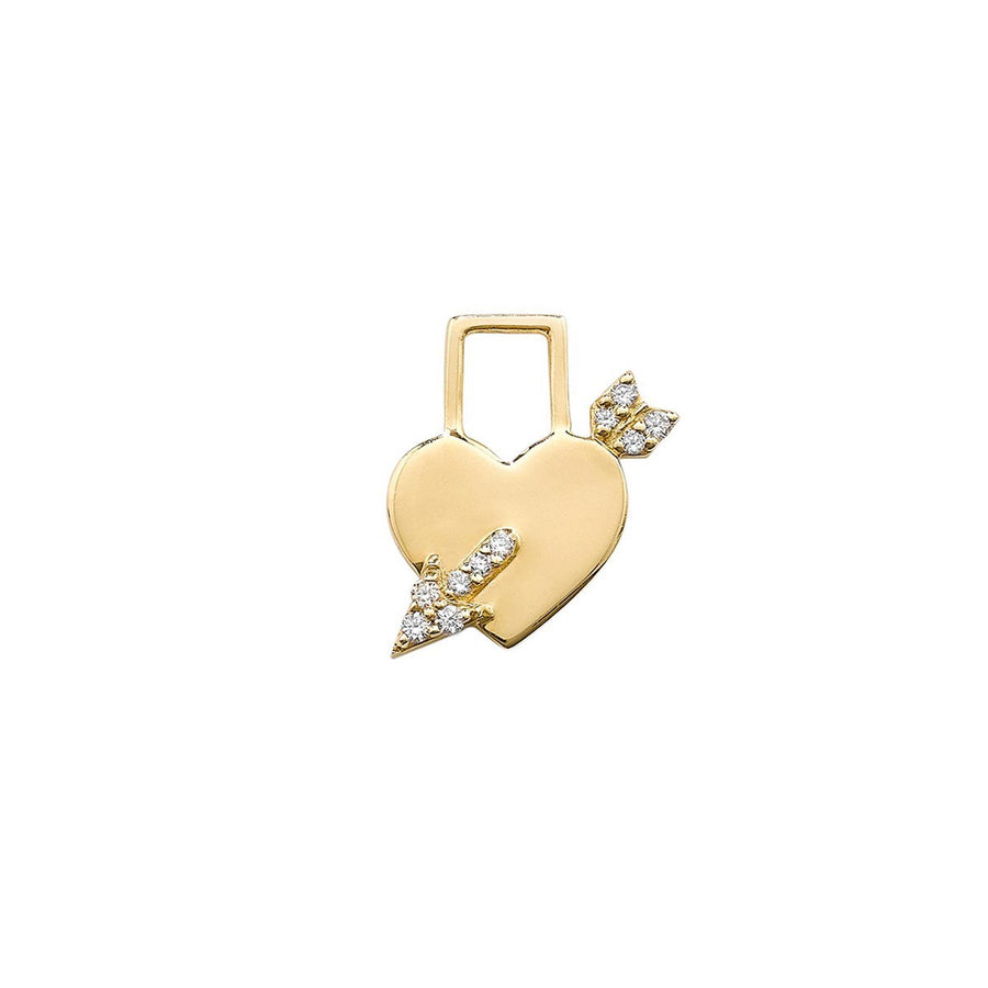Earwish coeur de cupidon diamants