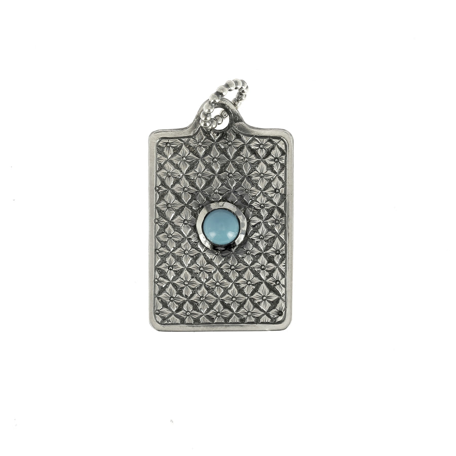 Dog Tag Pattern Turquoise