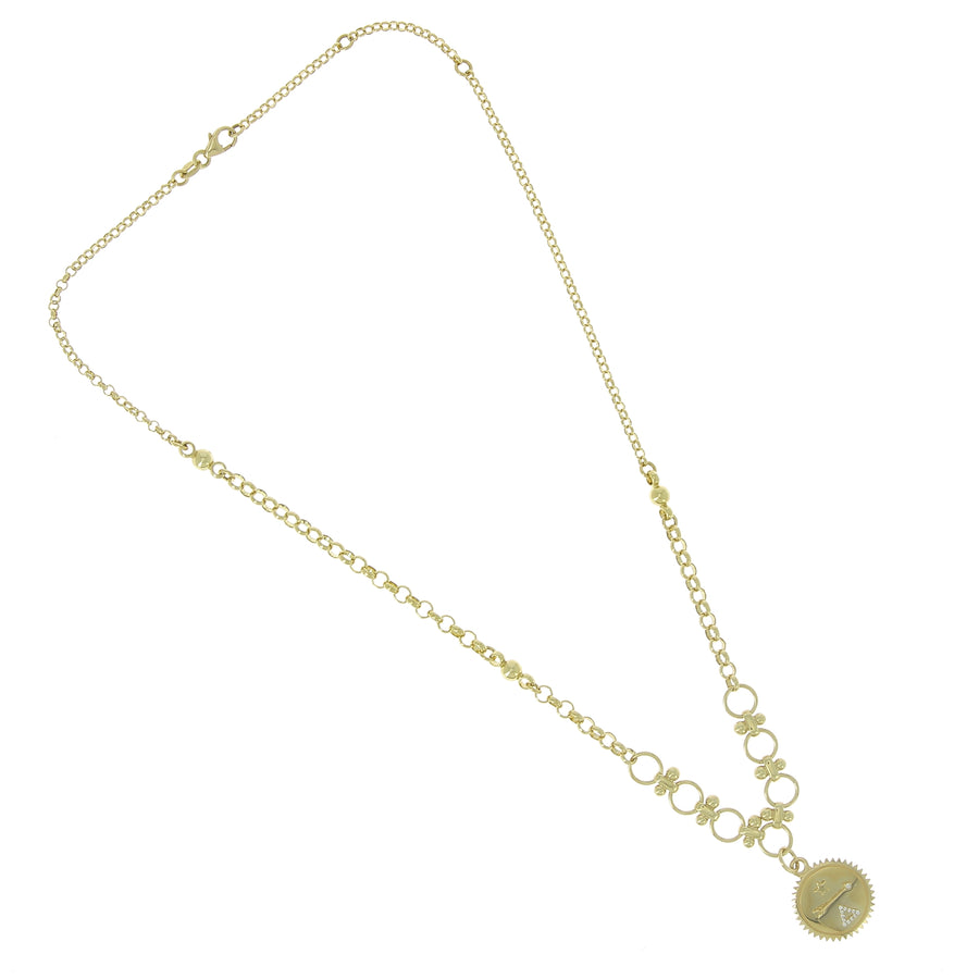Collier dream or jaune