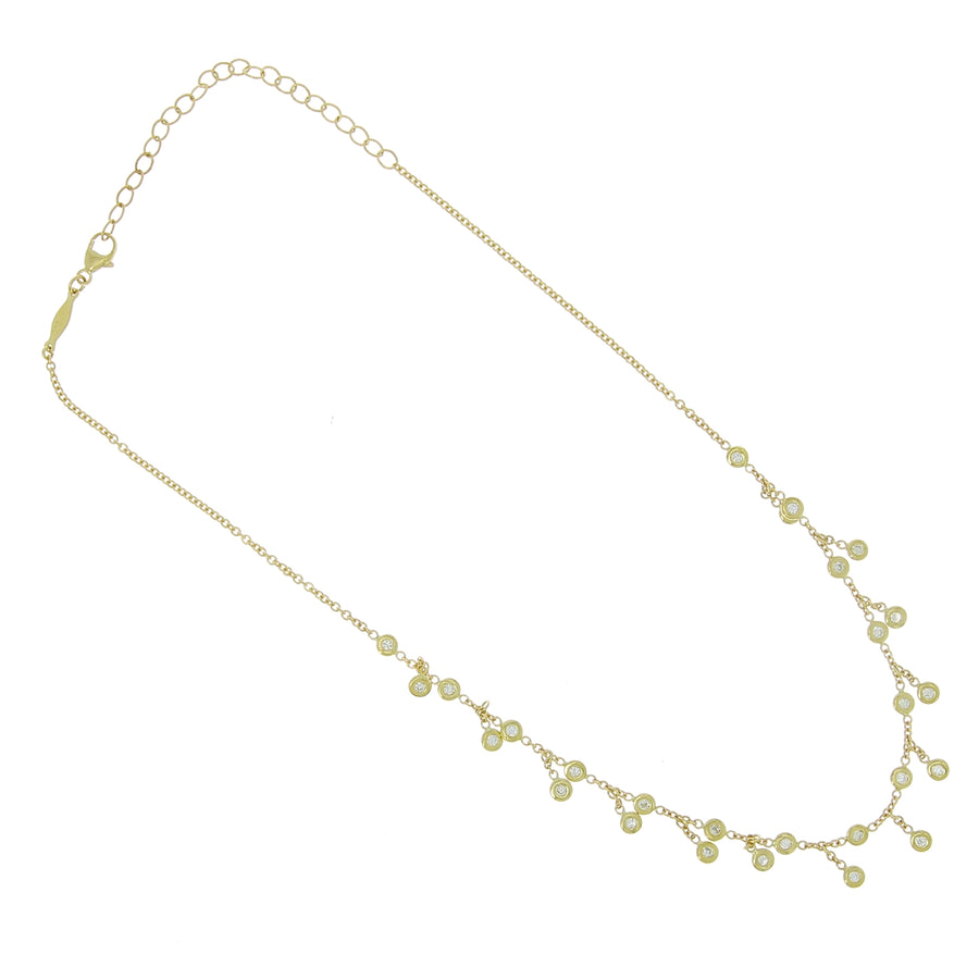 Collier choker full diamant