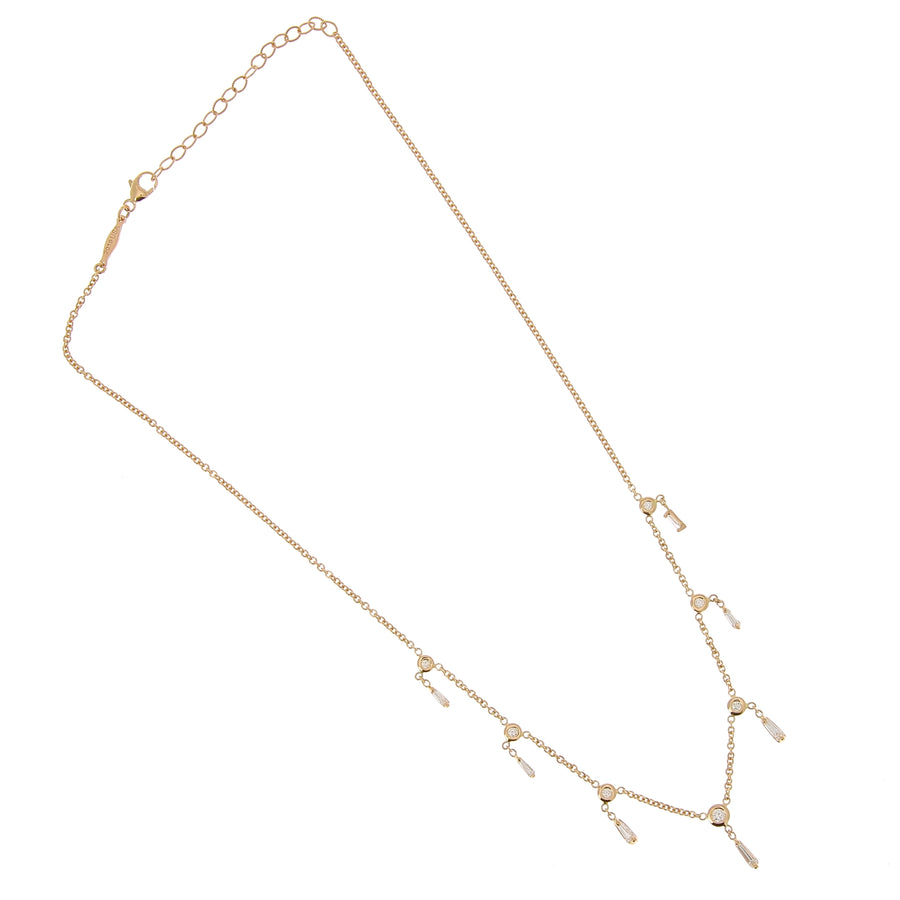 Collier baguette diamants