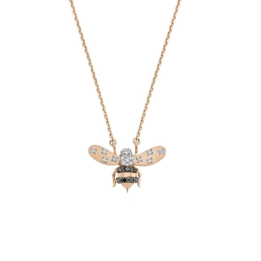 Collier Abeilles Black & White Diamond