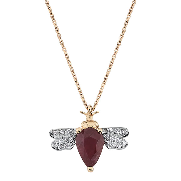 Collier Abeilles Ruby