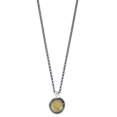 Collier Icy Grey Diamonds Or Jaune et Argent