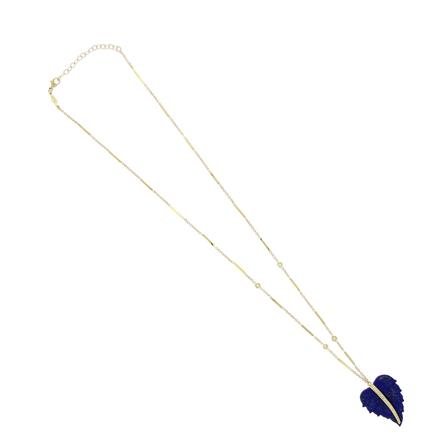 Collier Lapis Leaf