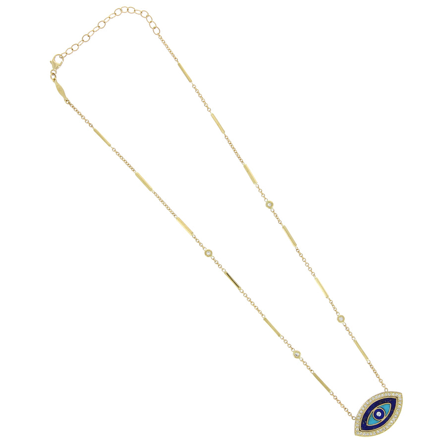 Collier Lapis Eye