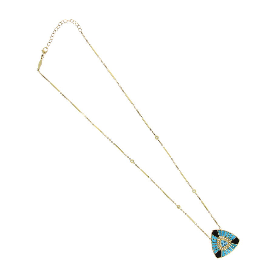 Collier Triangle Aigue Marine