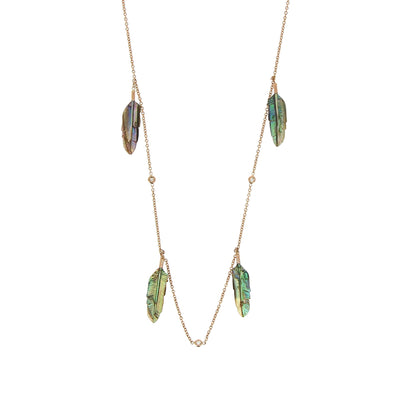 Collier Plume Abalone - Jacquie Aiche - Colliers pour femme - Mad Lords
