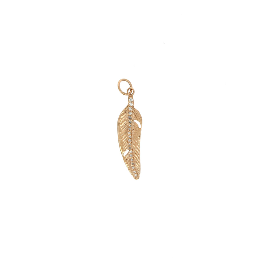 Charm Mini Gold Feather - Jacquie Aiche - Boucles d'oreille pour femme - Mad Lords