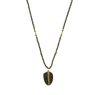 Collier Abalone Feather - Jacquie Aiche - Colliers pour femme - Mad Lords