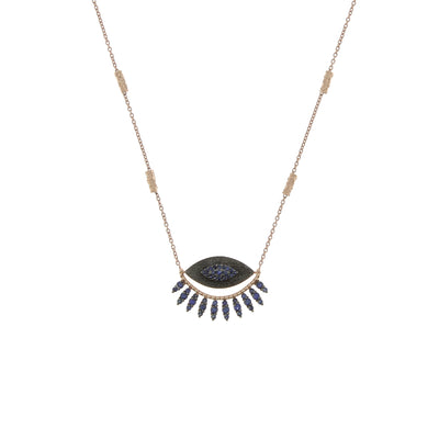 Collier Blue Eyelash
