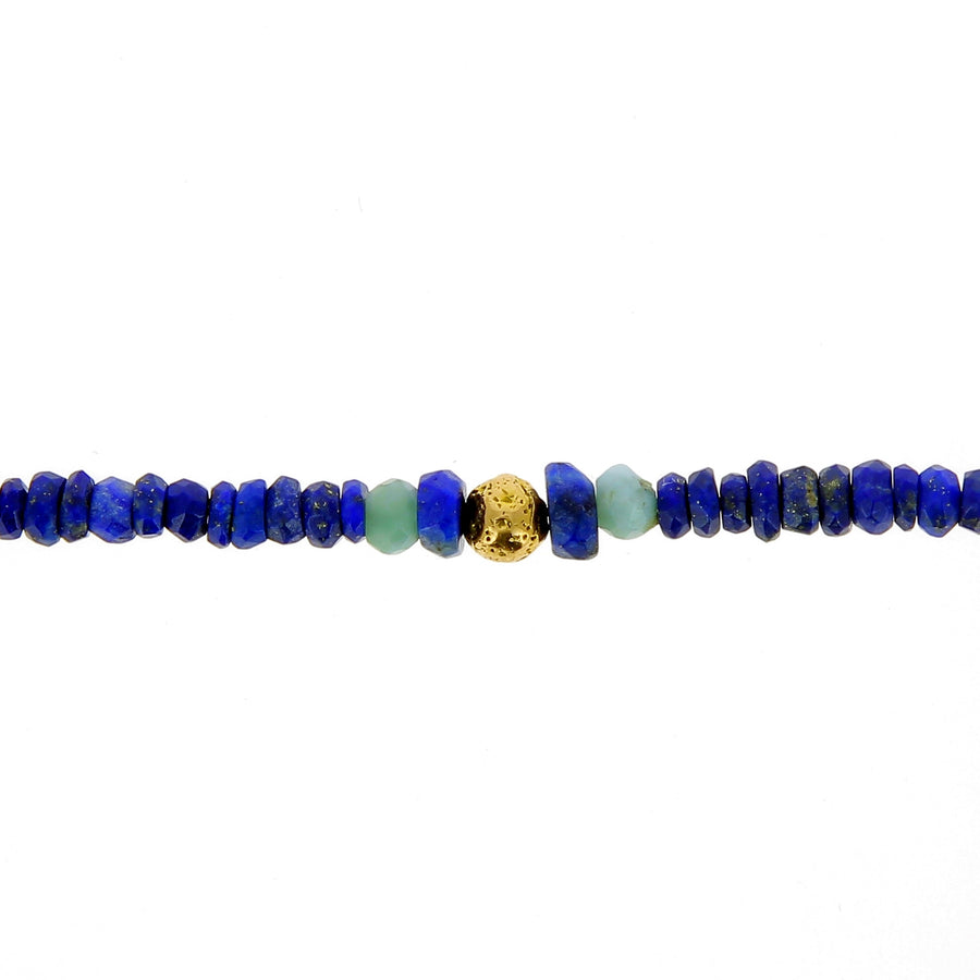 Collier lapis et calcite