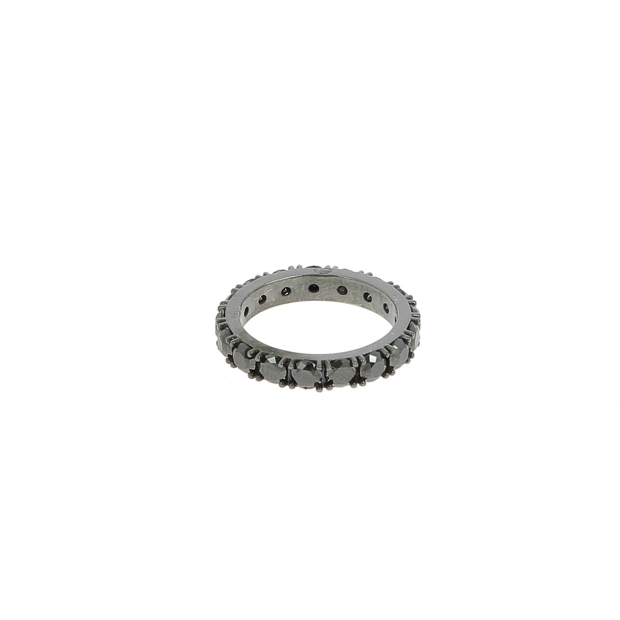 Bague Large Diamants Noirs