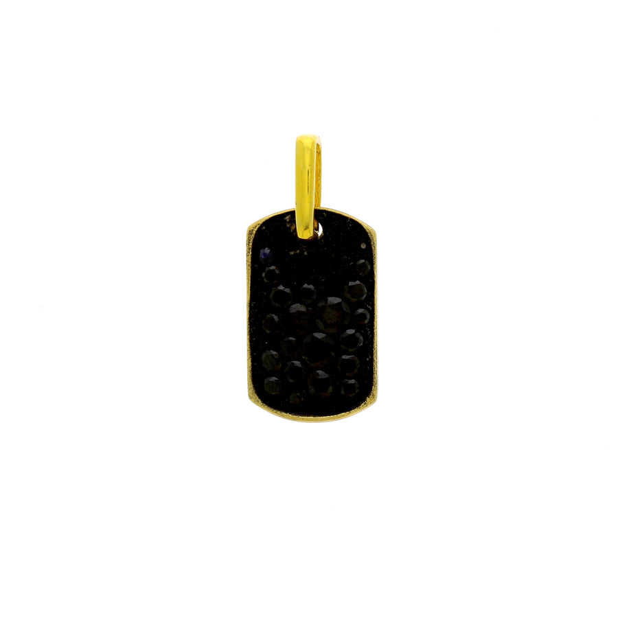 Large dog tag spinelle noire