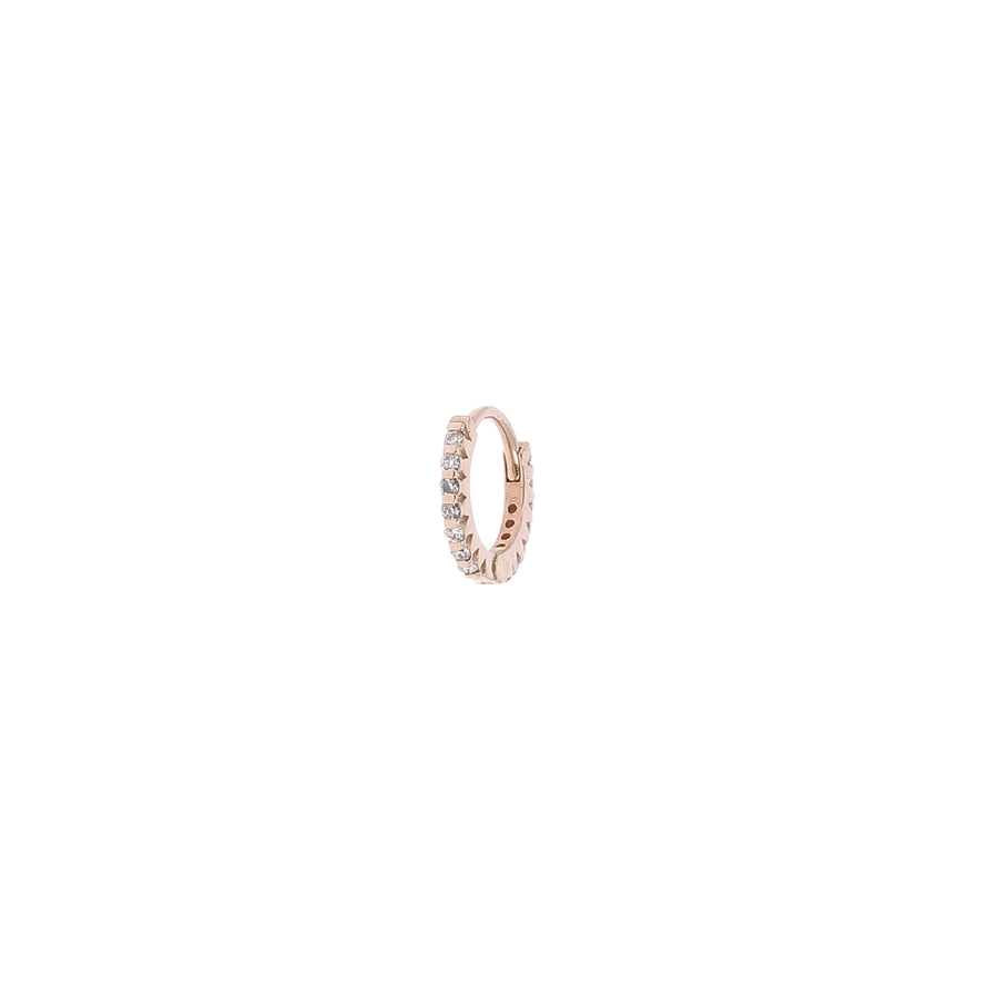 Boucle d'oreille Or Rose 5 mm