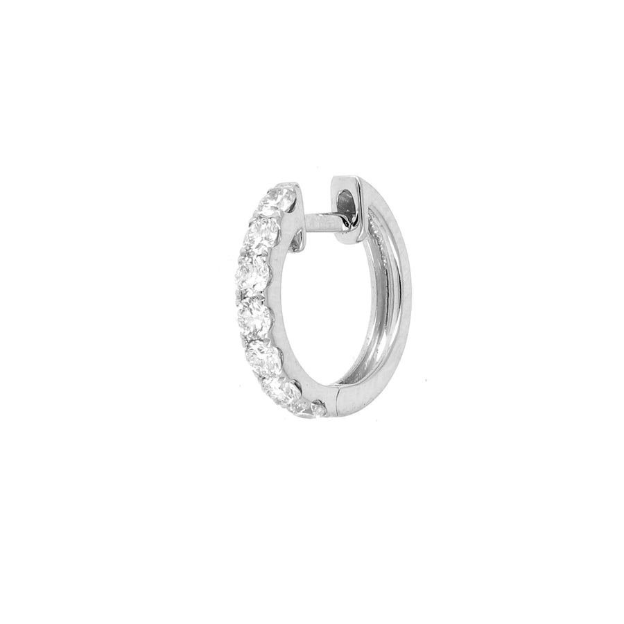 Midi cerceau orb avec diamants en or blanc