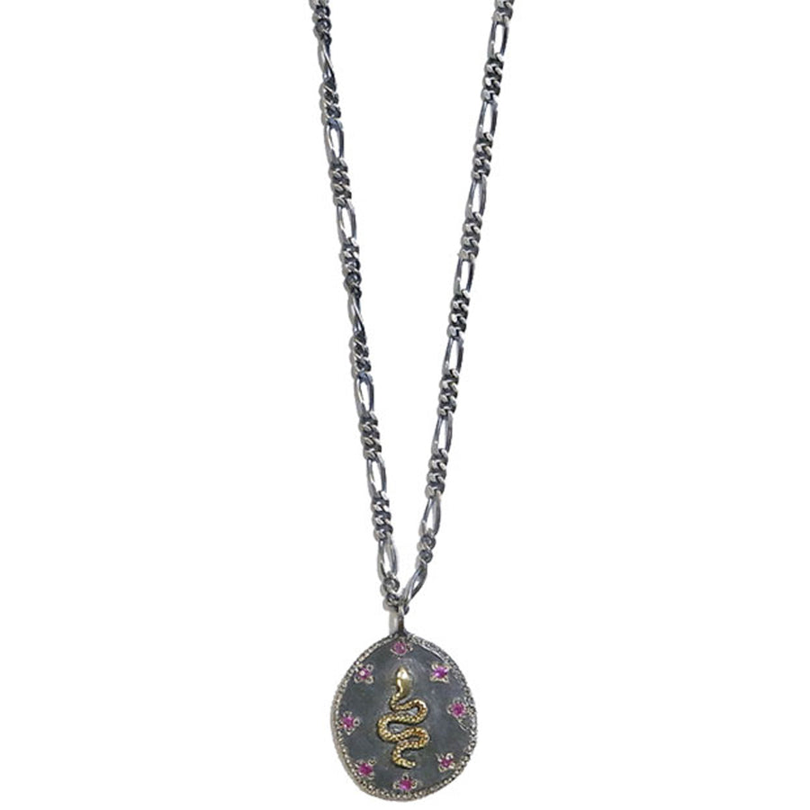 Collier Serpent Rubis - Rusty Thought - Colliers pour femme - Mad Lords