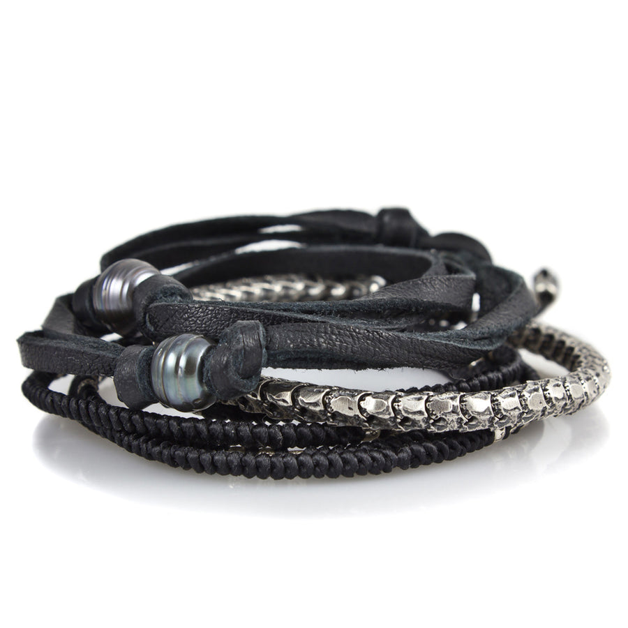 The Black Pearl Stack - M Cohen - Bracelets pour homme - Mad Lords