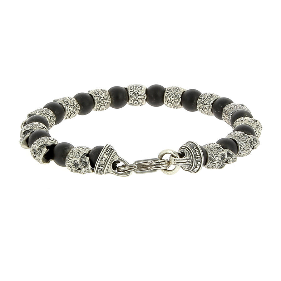 Bracelet Ice Age Onyx Et Argent - William Henry - Bracelets pour homme - Mad Lords