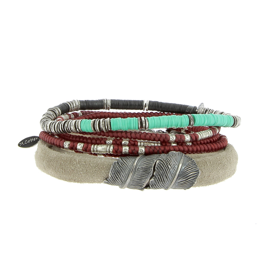 The Feather Stack - M Cohen - Bracelets pour homme - Mad Lords