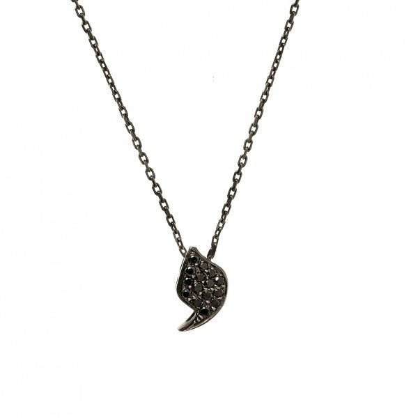 Collier Noir Freedom - Rivka Nahmias Jewelry - Colliers pour femme - Mad Lords