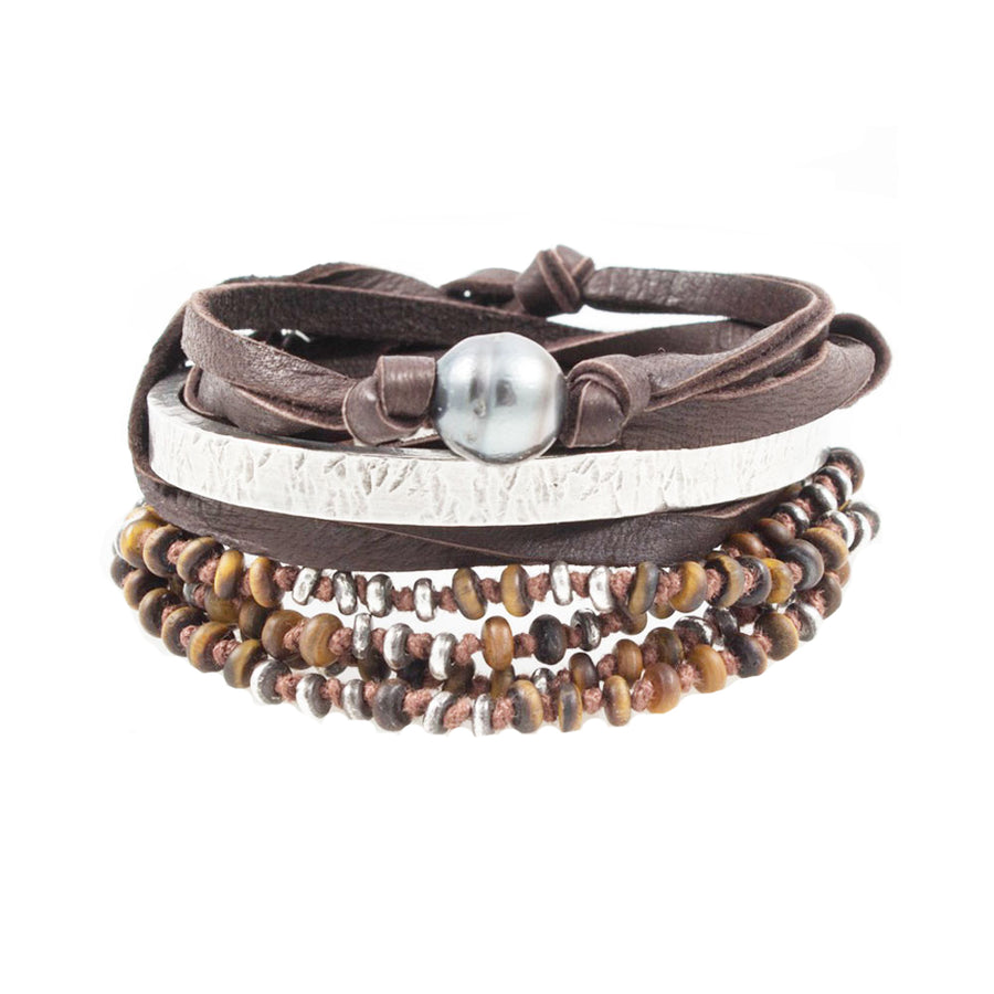 The Tiger Eye Stack - M Cohen - Bracelets pour homme - Mad Lords