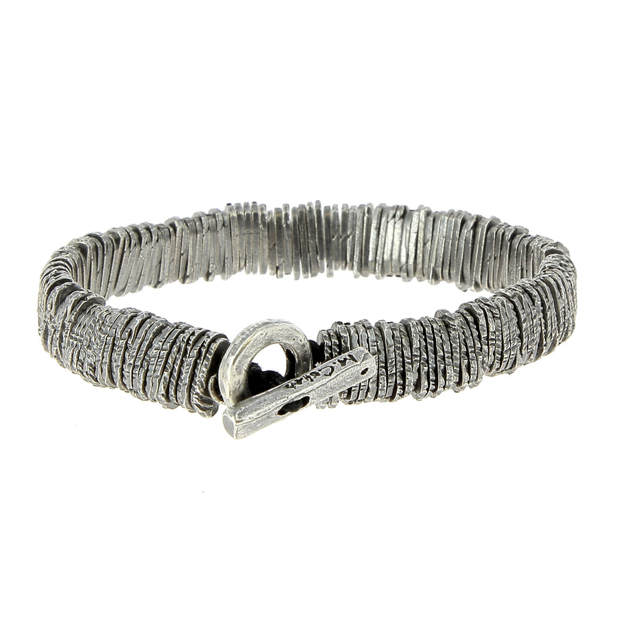 Distressed Silver Barcode - M Cohen - Bracelets pour homme - Mad Lords