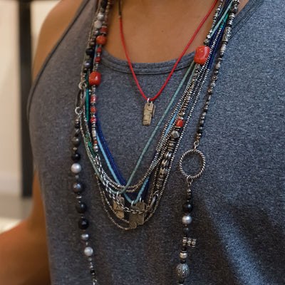 Mini Bead And Silver Horizon Combination - M Cohen - Colliers pour homme - Mad Lords