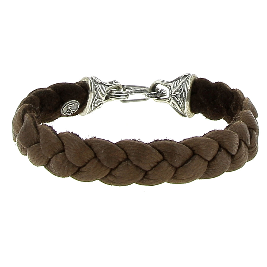 Bracelet Marron Braided Deerskin - William Henry - Bracelets pour homme - Mad Lords