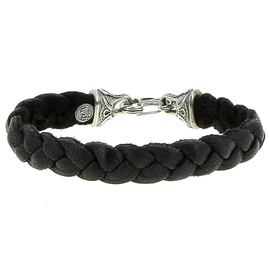 Bracelet Noir Braided Deerskin - William Henry - Bracelets pour homme - Mad Lords