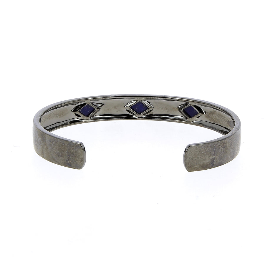 Mad Precious Retro White Diamond And Lapis Lazuli - Mad Precious - Bracelets pour homme - Mad Lords