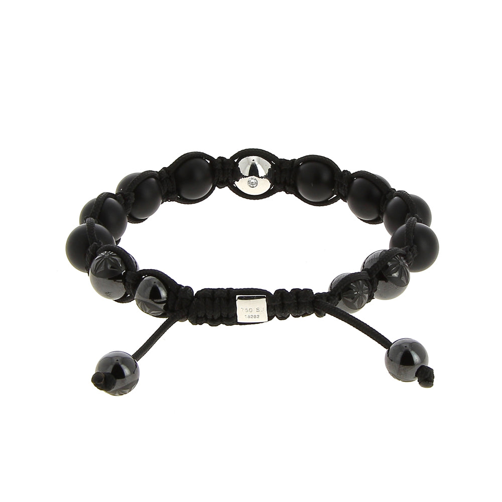 Shamballa Jewels Shamballa Gold Onyx Bracelet Mens Bracelets Mad Lords