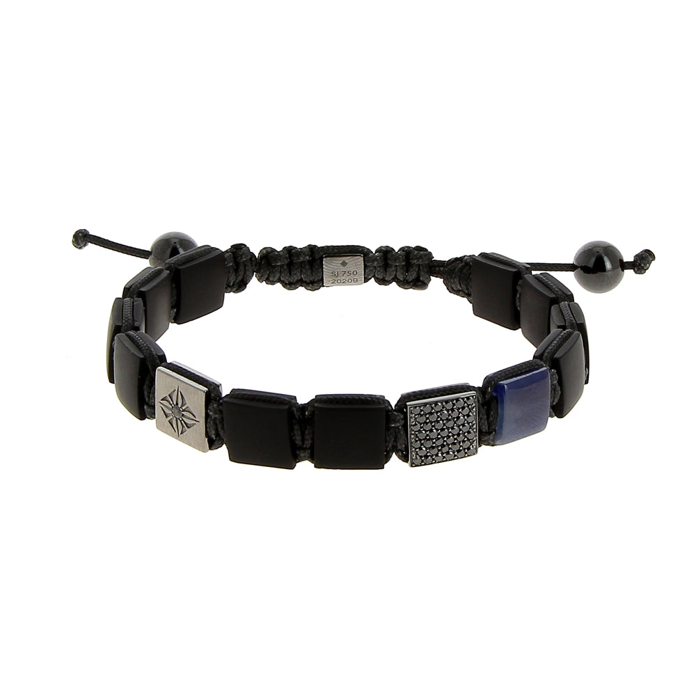 Shamballa Jewels Sapphire Diamond Lock Bracelet Mens Bracelets Mad