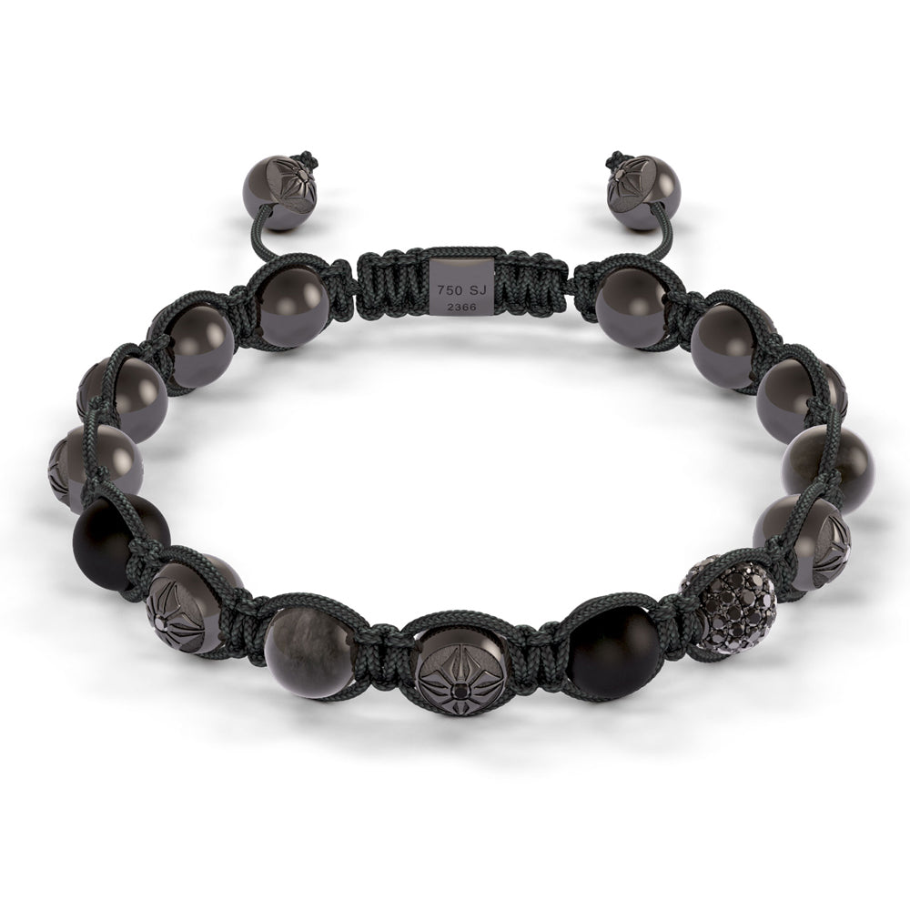 Shamballa Jewels Black Shamballa Bracelet Mens Bracelets Mad Lords