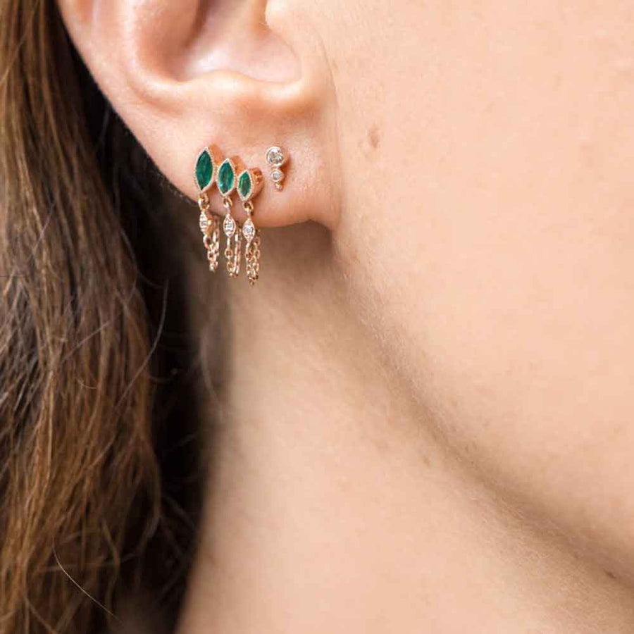 Boucle D'Oreille Emerald Marquise