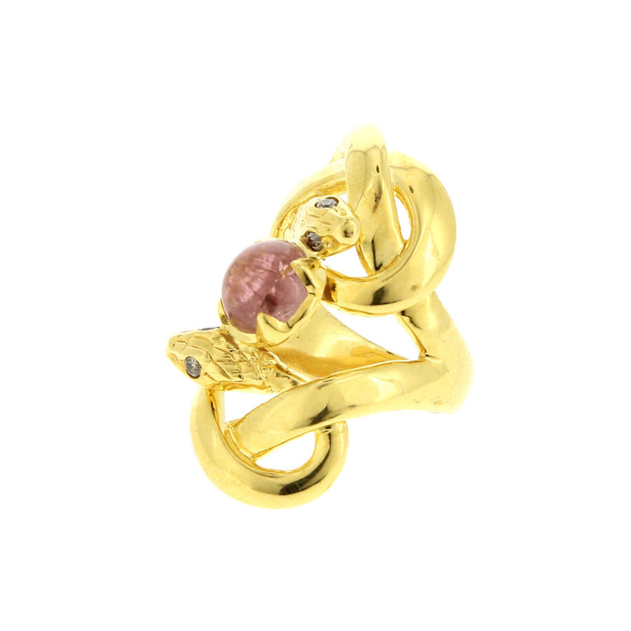 Bague Amis Intimes Tourmaline Rose - Sylvie Corbelin - Bagues pour femme - Mad Lords