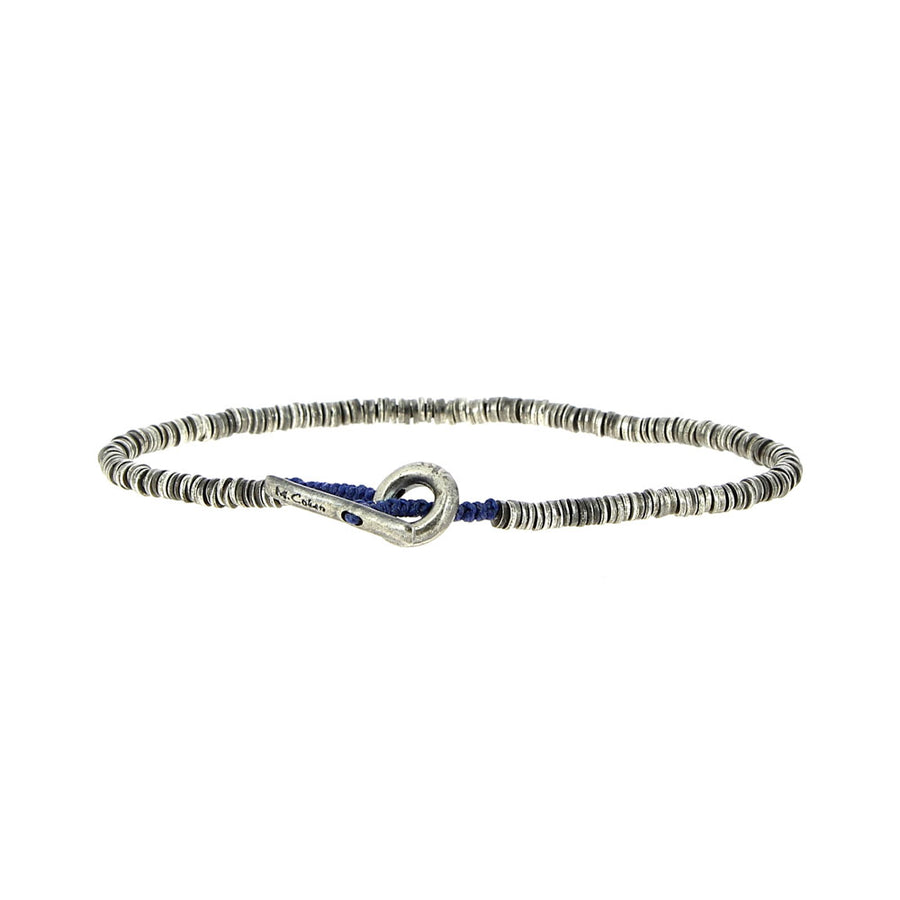 Bracelet Blue And Mini Silver Beads - M Cohen - Bracelets pour homme - Mad Lords