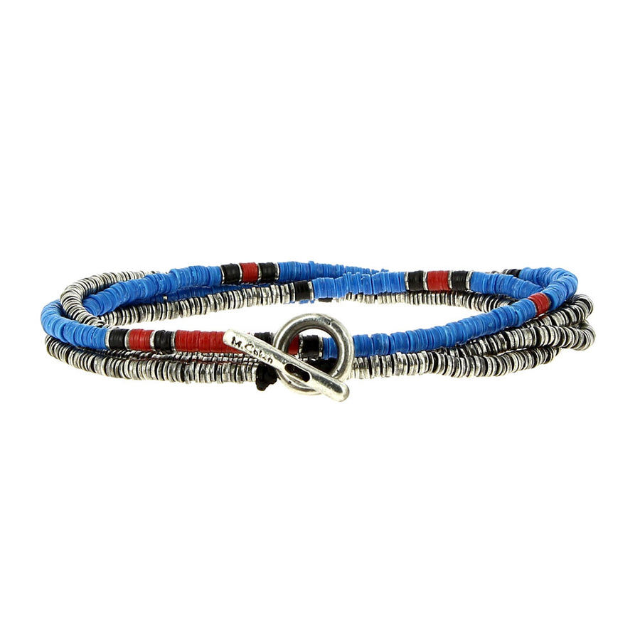 Bracelet 4 Layers Blue - M Cohen - Bracelets pour homme - Mad Lords
