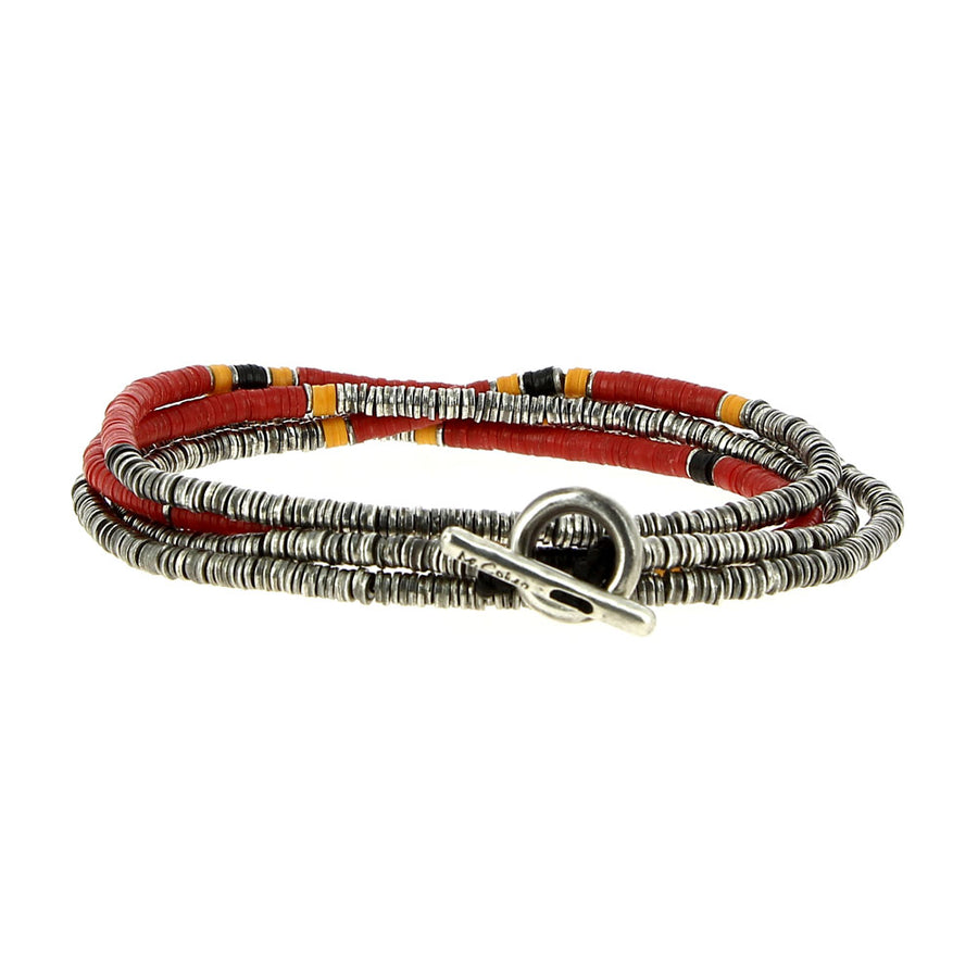 Bracelet 4 Layers Red - M Cohen - Bracelets pour homme - Mad Lords