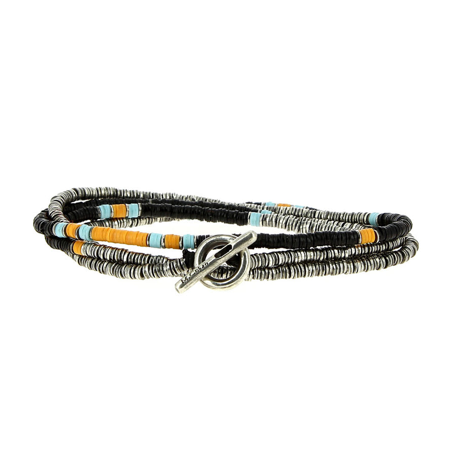 Bracelet 4 Layers Black - M Cohen - Bracelets pour homme - Mad Lords