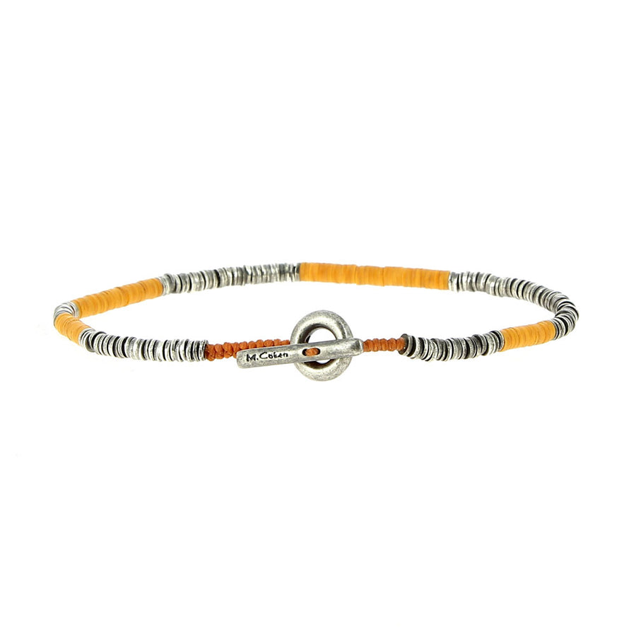 Bracelet Orange Mini African Vinyl - M Cohen - Bracelets pour homme - Mad Lords